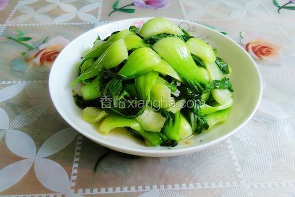 猪油炒上海青