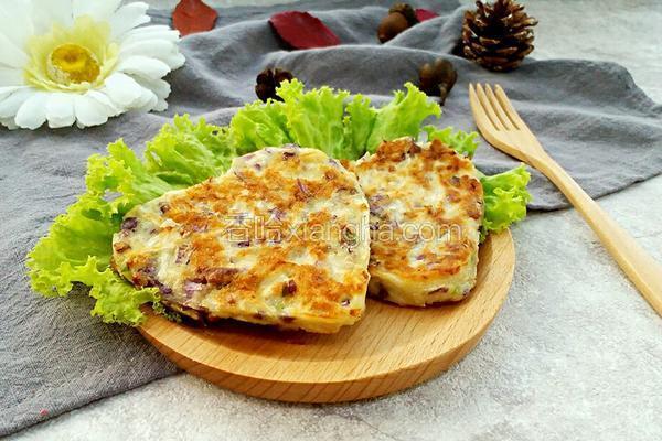 紫甘蓝萝卜丝饼