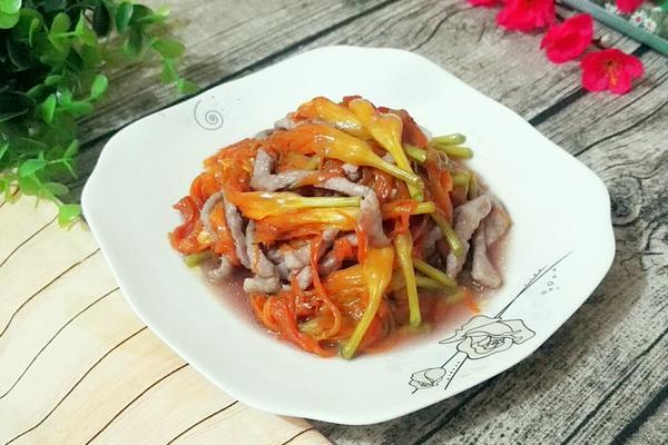 鲜黄花菜炒肉丝