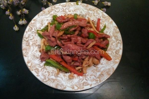 蚝汁海鲜菇炒牛柳