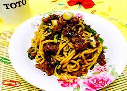 牛肉炒米线