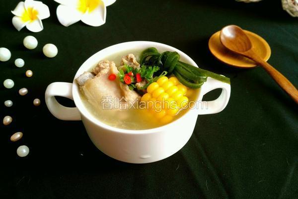 玉米海带排骨汤