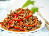 红椒炒肉(甜椒肉丝)的做法[图]