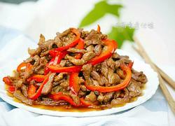 红椒炒肉(甜椒肉丝)