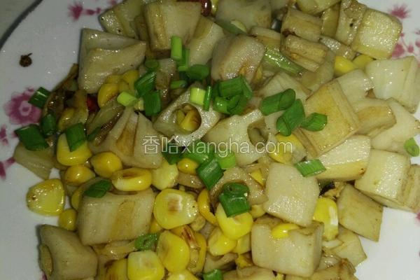 香葱玉米藕丁