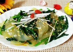 红油菠菜粉皮