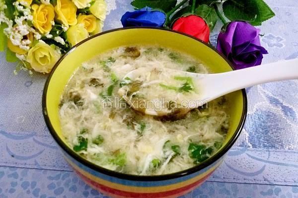 紫菜虾皮鸡蛋汤