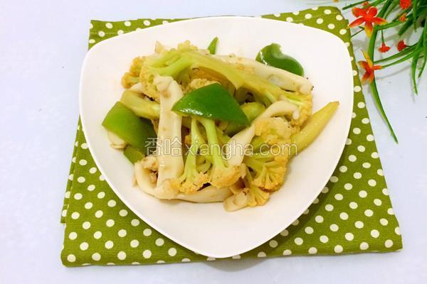 青椒炒菜花