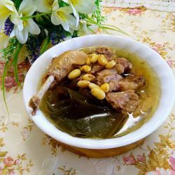 海带炖鸭汤