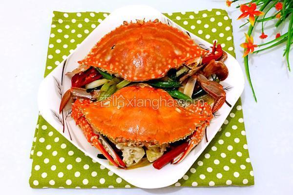 姜葱炒青蟹