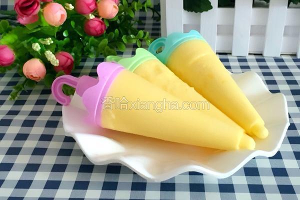酸奶芒果冰棒