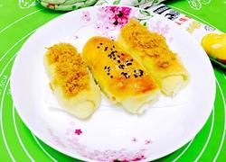 肉松炼乳咸面包(无奶无糖版)