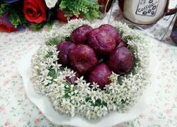 蜂蜜牛奶紫薯球