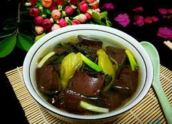 酸菜猪血汤
