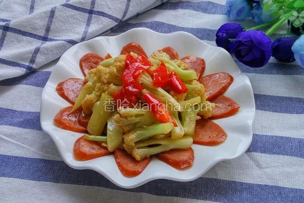 培根炒菜花