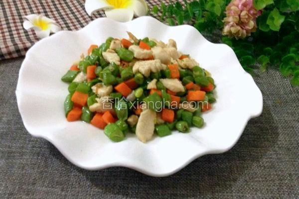 鸡肉炒四季豆