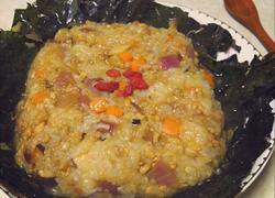 荷叶糯米蒸肉末