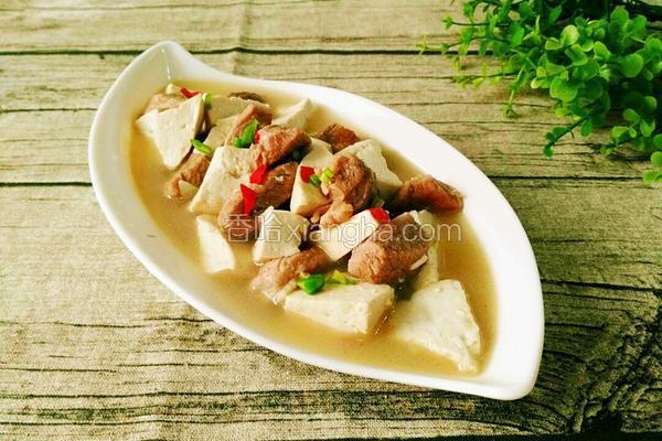 羊肉燉豆腐