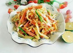 火腿肠炒榨菜