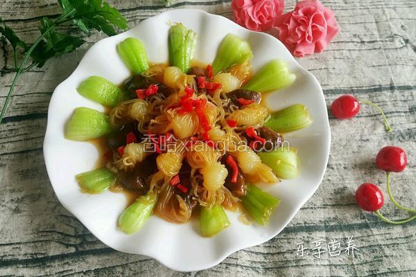 鲜菇油菜炒魔芋结