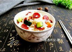 广式香肠炒饭