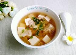 豆腐肉片汤