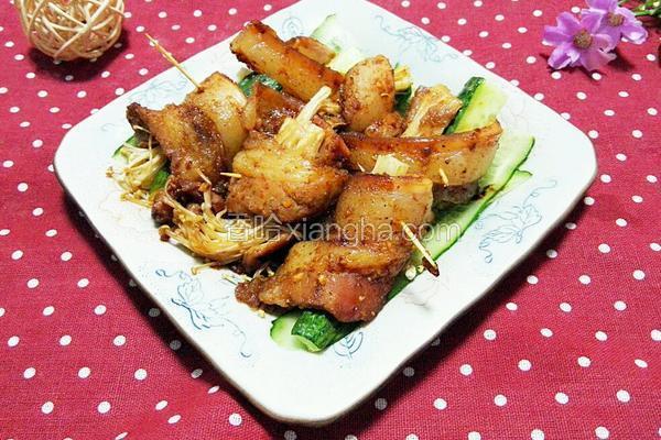 金针菇五花肉卷