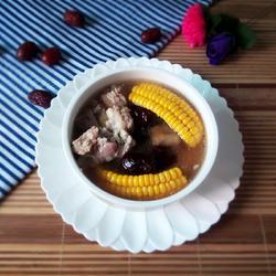 排骨玉米红枣汤