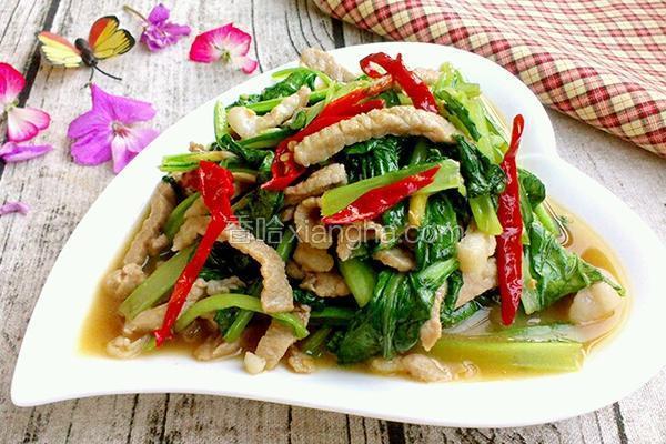 肉炒小白菜