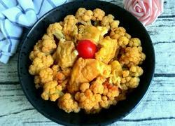 番茄鸡蛋炒花菜