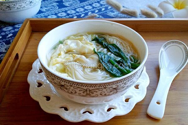 菠菜汤面条