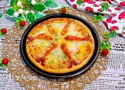 培根大虾披萨