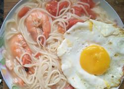 西红柿鸡蛋大虾面条
