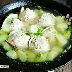 蛤蜊肉丸丝瓜