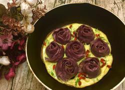 紫薯玫瑰花抱蛋煎饺