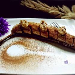 肉桂葡萄干烤香蕉