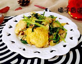 香菜炒鸡蛋
