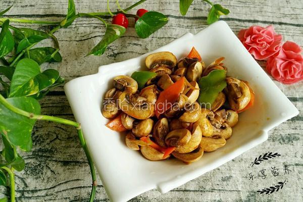 蒜香酿口蘑