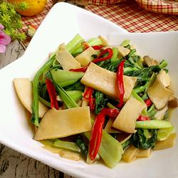 杏鲍菇炒油菜