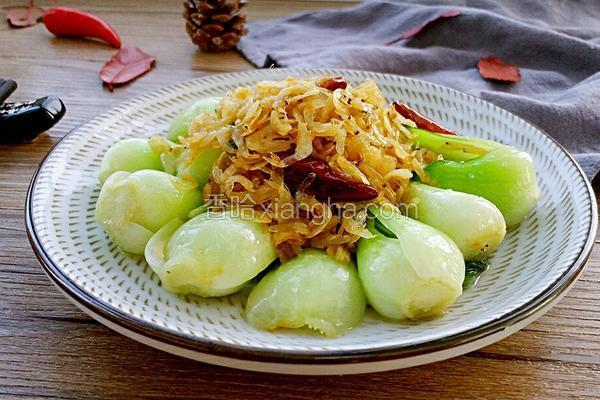 油菜炒虾皮