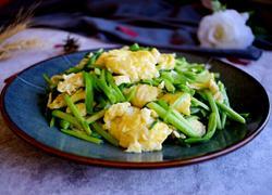 韭菜梗炒鸡蛋