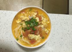 番茄鸡蛋连汤面
