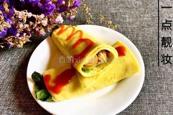鸡蛋卷菜饼