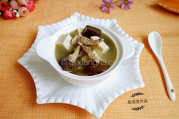 肉丝豆腐猪血汤