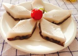椰奶红豆糕