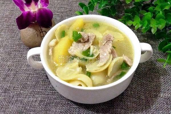 苹果百合瘦肉汤