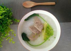 葱花猪肝粥