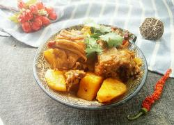鸡骨架炖土豆