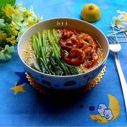 蚝油鲜虾汤面