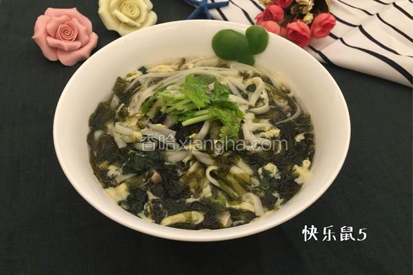 冬季蔬菜大全_紫菜蛋花面的做法_菜谱_香哈网